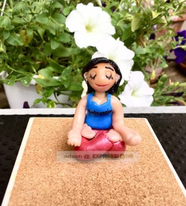 Pammi from Expressions Handcrafts in a Yoga pose!!!